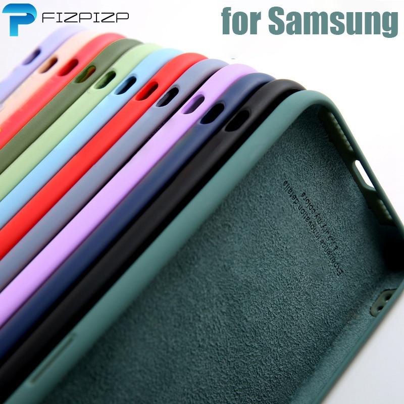 En Silicone dorigine Pour Samsung Galaxy S10 S10e S20 FE S8 S9 Plus Note 10 20 Ultra A10 A40 A50 A51 A71 A31 A41 A21S