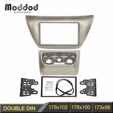 Doppel Din Radio Fascia mit Zentrum AC Control Panel für 2006 Mitsubishi Lancer IX Anschlussmärkte Stereo Fascia Dash Kit Rahmen