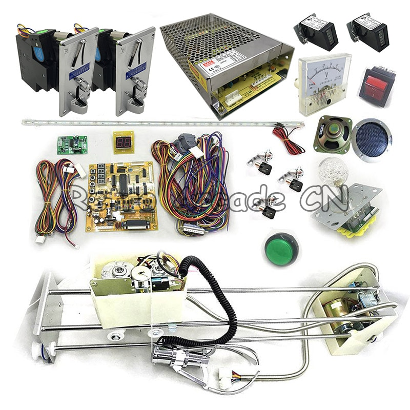 Cheap Price Toy crane machine kit Arcade diy for crane main board game motherboard ,stainless steel claw, 48V power supply