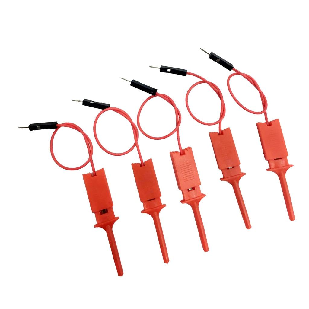 5 шт. тестовый крюк с зажимом мини размер красный цвет зонд для электронного