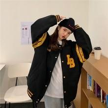 Real Shot Baseball Uniform for Women Autumn and Winter New Korean Style Loose Beauty
