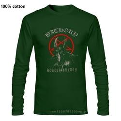 Bathory-metal preto-venom-mayhem, camisa preta t _ tamanhos s a 7xl camiseta casual manga longa