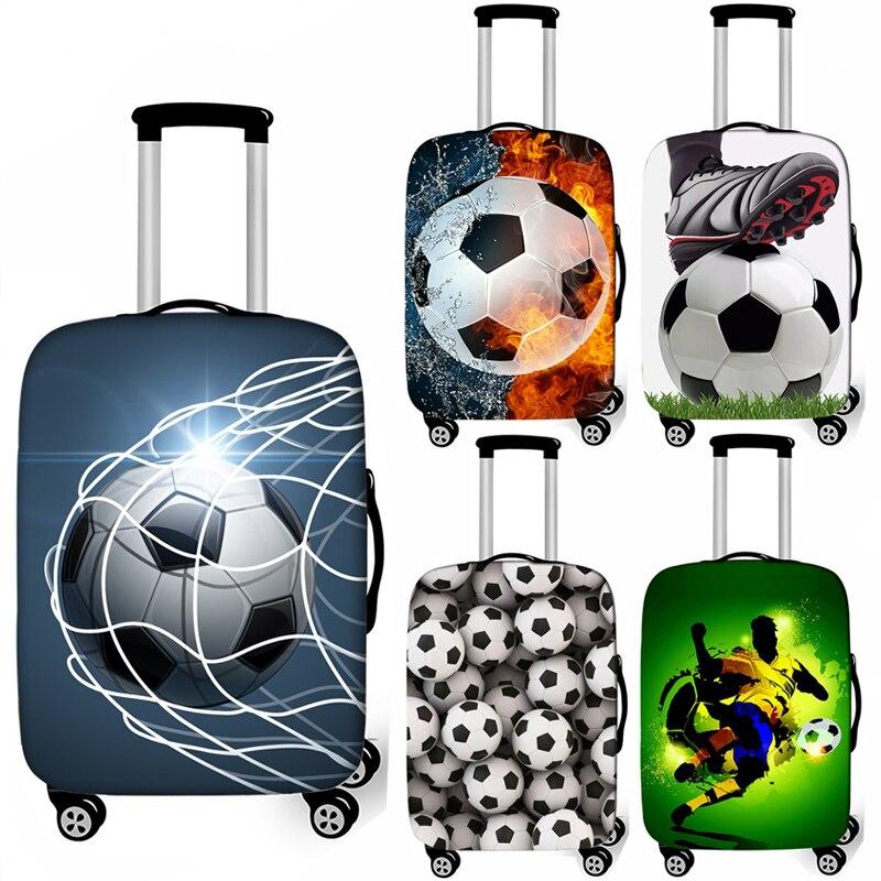 Cubierta protectora de la maleta de viaje de la maleta de la cubierta del equipaje de la carretilla elástica Soccerly accesorio de viaje a prueba de polvo ts17