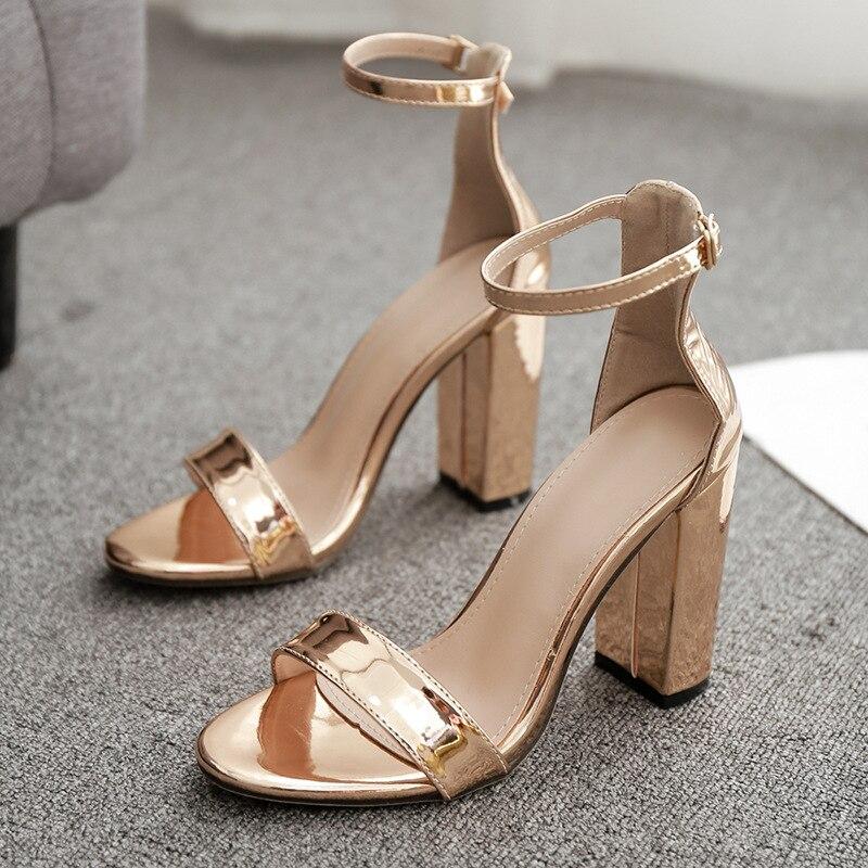 Sandálias de Salto Alto Sapatos Femininos Bombas Sexy 11.5cm