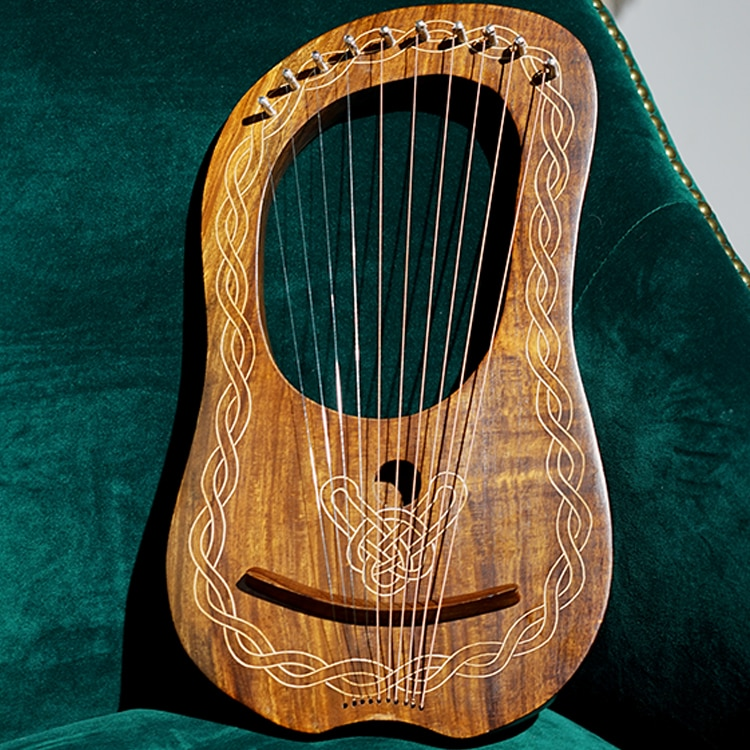 10 String Lyre Harp Musical Instrument Wooden Miniature Harp Music Accessories Instrumentos Musicales String Instruments EI50HP