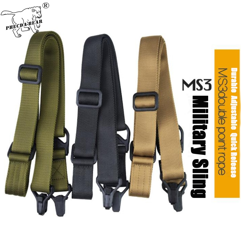PHECDA TACTICAL GEAR 1 point tactical gun sling army police double security rifle 2 nylon military