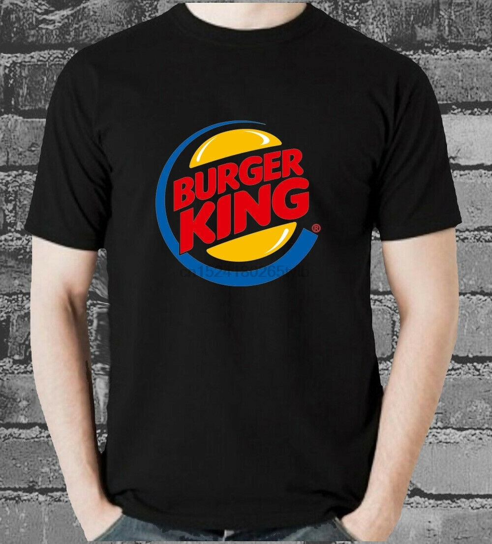 Burger King BK Logo T-shirt food burgers fries meat Lover Men TShirt