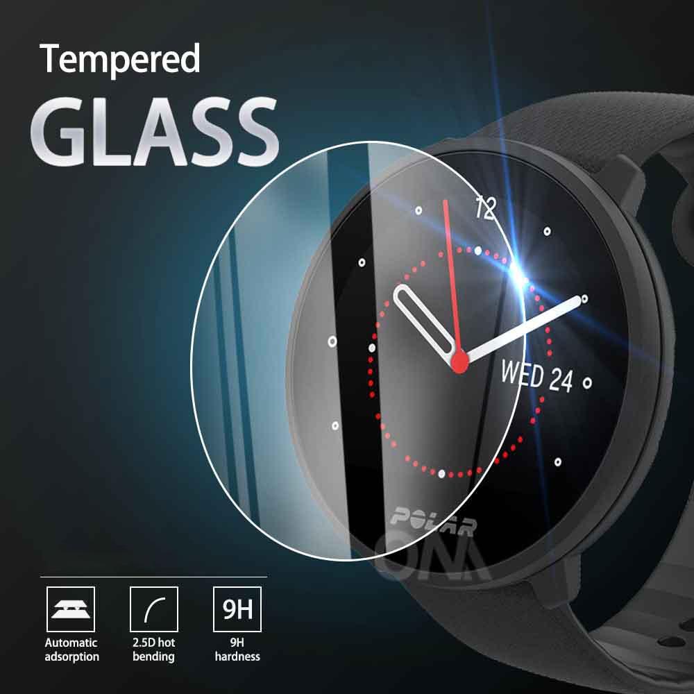 5Pcs 9H Premium Tempered Glass For Polar Watch Unite / Ignite Vantage V2 / V Smart Watch Screen Prot