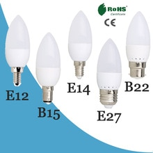 E14 E27 Home Deco 220V 6W 7W Spotlight Kaars Lamp Leds Kroonluchter Licht Bombilla Voor Energiebesparing lamp Verlichting Kaars Lamp