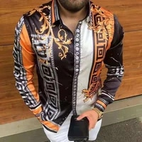 2021 hot sale autumn mens long sleeved shirts casual fashion printed single breasted cardigan dinner party shirts eur size m 3x