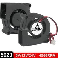 2pcslot gdstime 5020 blower dc 5v 12v 24v centrifugal turbine fan 50mm x 20mm 5cm 2pin cooling cooler