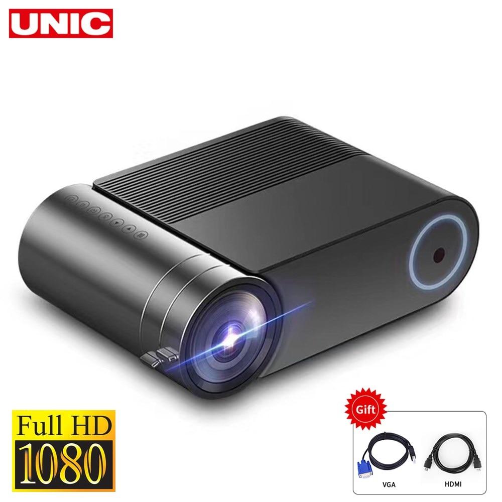 UNIC YG550 native projector 1280x720 mini LED 7000 lumens Portable YG551 WiFi Multi-screen video projector 3D VGA HDMI Proyector