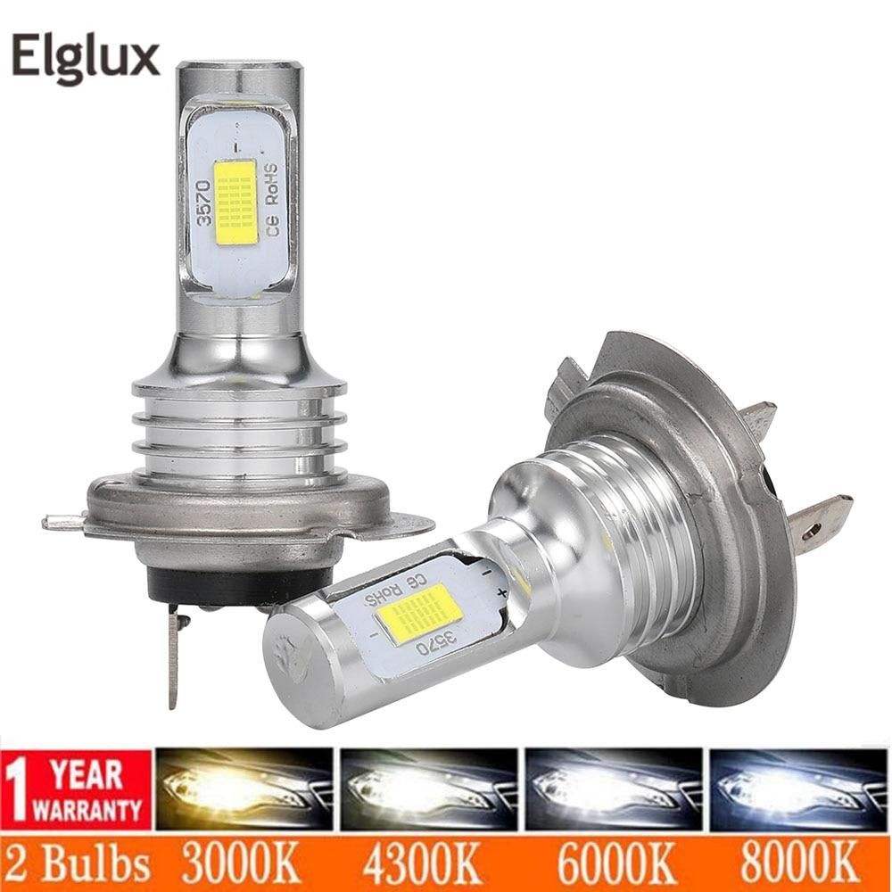 2 шт. мини H7 H4 светодиодный фонарь Автомобильная фара противотуманная фара H11 H1 H8 H3 H9 9005/HB3 9006/HB4 9007 Дальний свет 80 Вт 12000LM светодиодный налобный фонарь