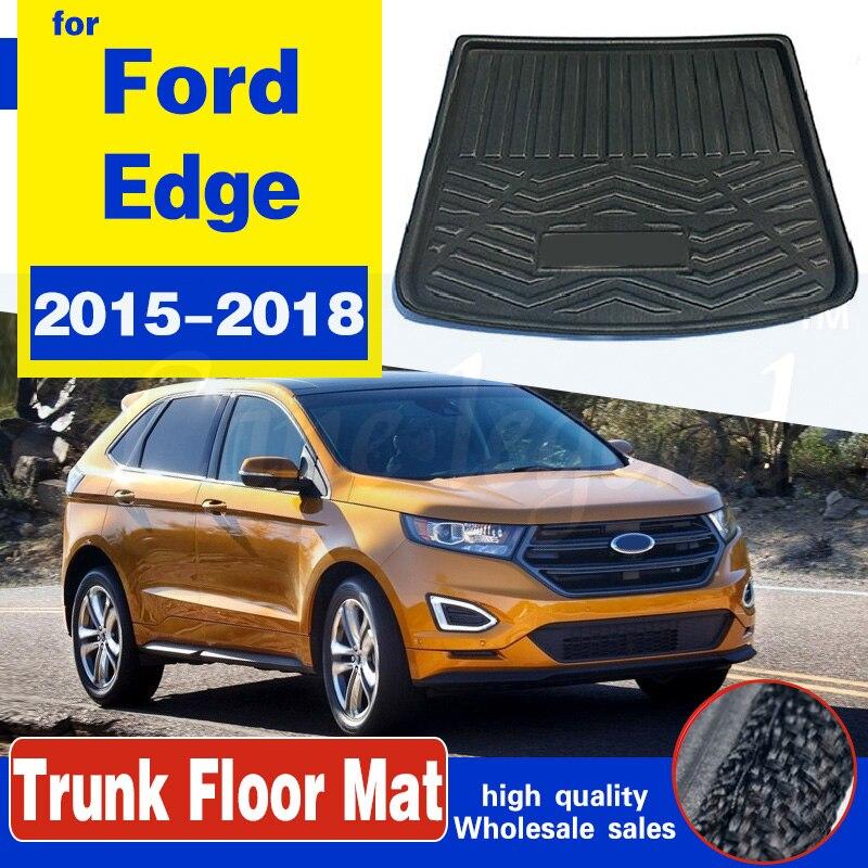 Для Ford Edge 2015 2016 2017 2018 коврик для сапог задний багажник лайнер грузовой пол лоток защита для ковров водонепроницаемые автомобильные аксессуары