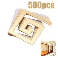50100200500pcs geometric pattern diy acrylic wall sticker for home room bedroom decoration modern maze wall sticker gold