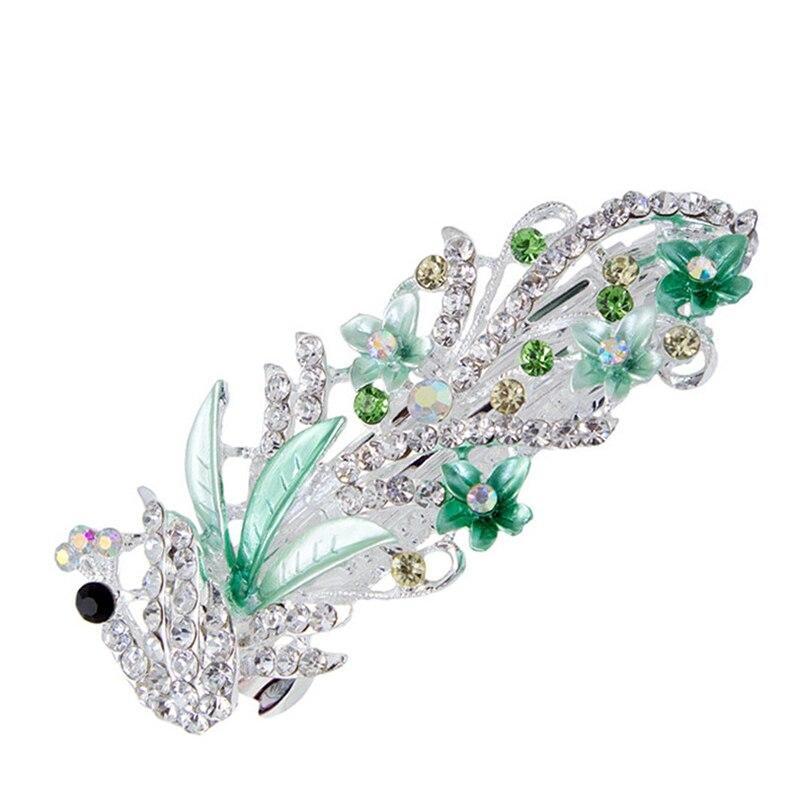 Трендовые заколки для волос в виде цветов павлина, женские заколки для волос с кристаллами, Романтические Аксессуары для волос на свадьбу, 5 видов цветов