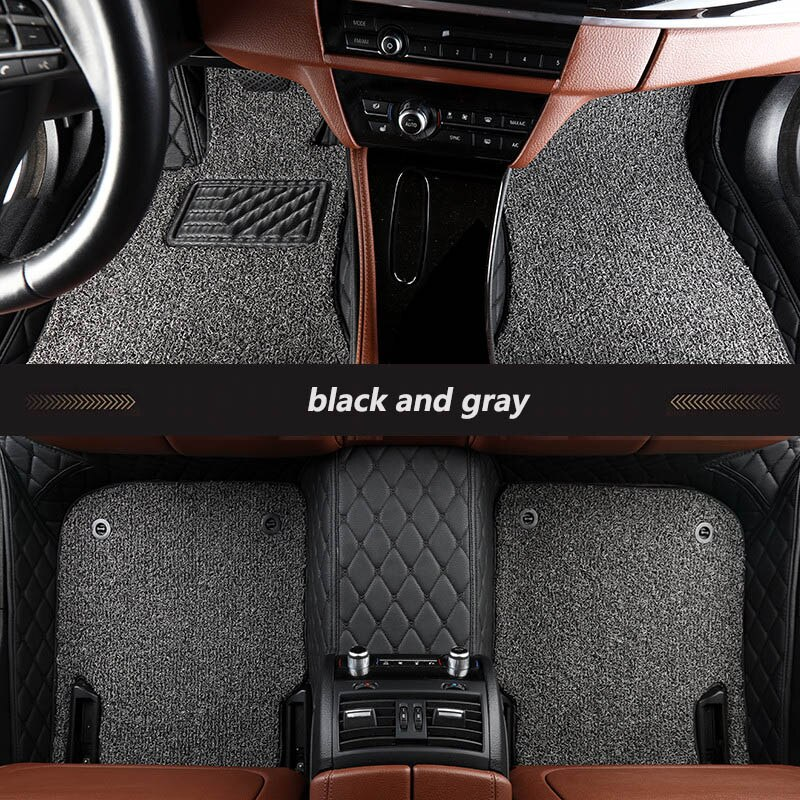 kalaisike Custom car floor mats for Mitsubishi All Models pajero grandis ASX lancer galant Lancer-ex pajero sport outlander