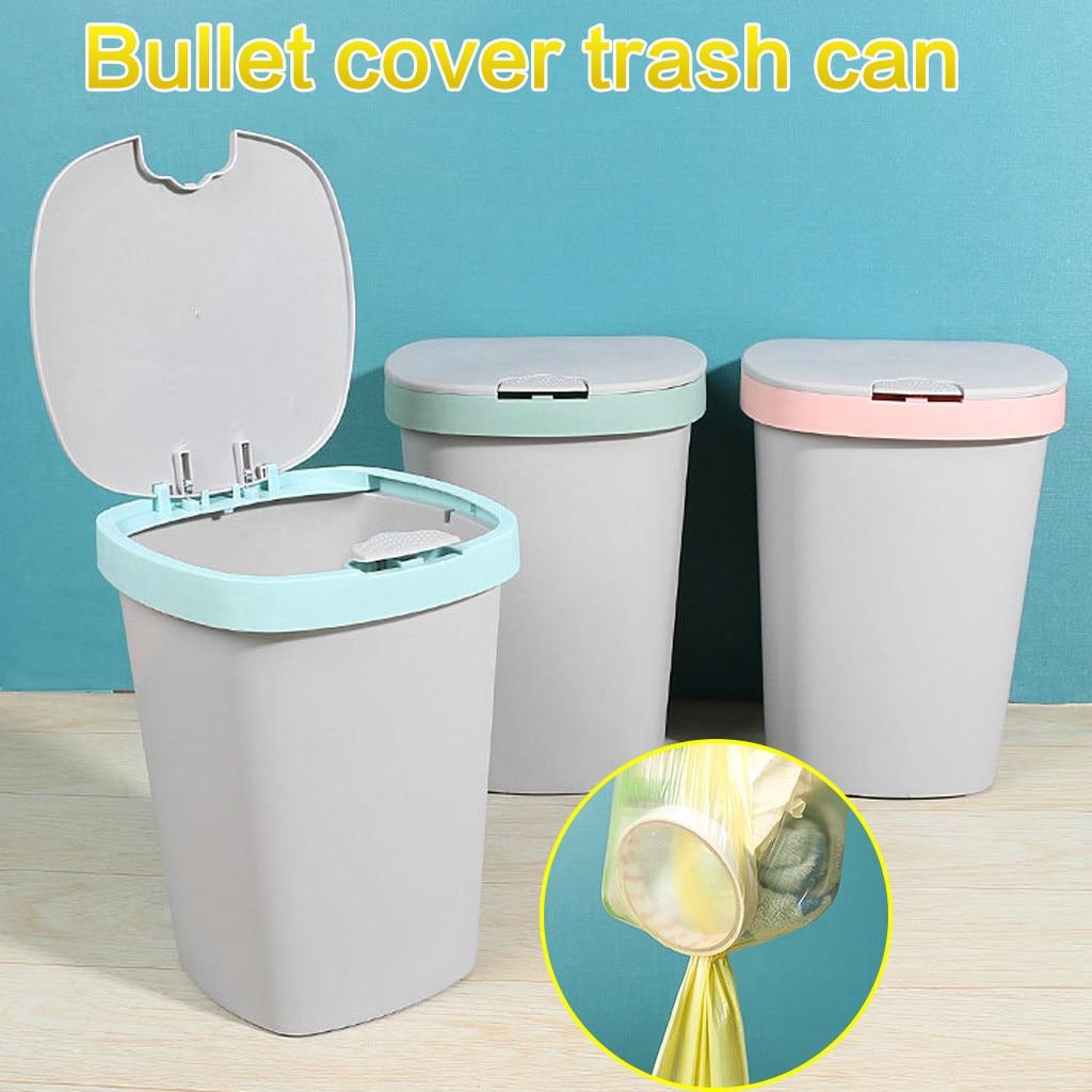 Cubos de Basura de cocina Cubo de Reciclaje Cubo de Basura Cubo de Reciclaje de Basura sala de estar cubierta Cubo de Basura # g3