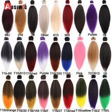 AOSIWIG 100g/pack Colorful Afro Ombre Pre Stretched Braiding Hair Extensions Synthetic Jumbo Hair Br