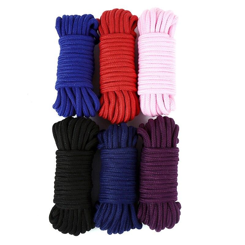 FX 2m/5m/10m sexe esclave corde de Bondage épais coton retenue érotique jeu de rôle jouets doux coton corde pour Couples adulte jeu produit