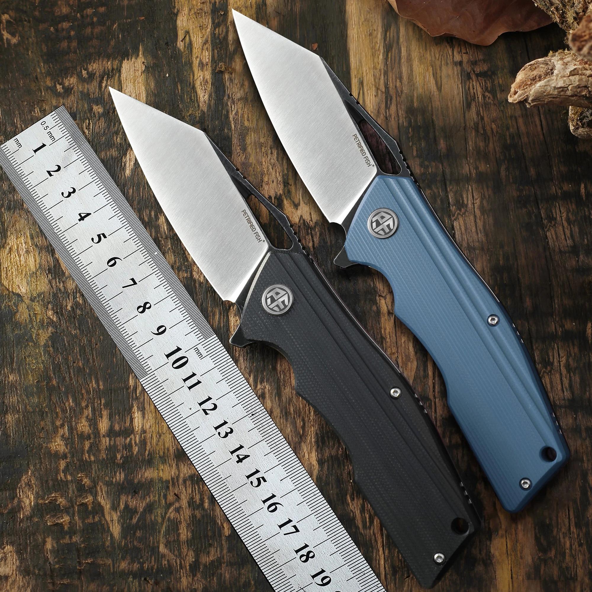 الأصلي 929 سكين للفرد الأسماك المتحجرة D2 شفرة فولاذية سكين صيد G10 مقبض في الهواء الطلق تسلق الجبال EDC أداة هدية السكاكين