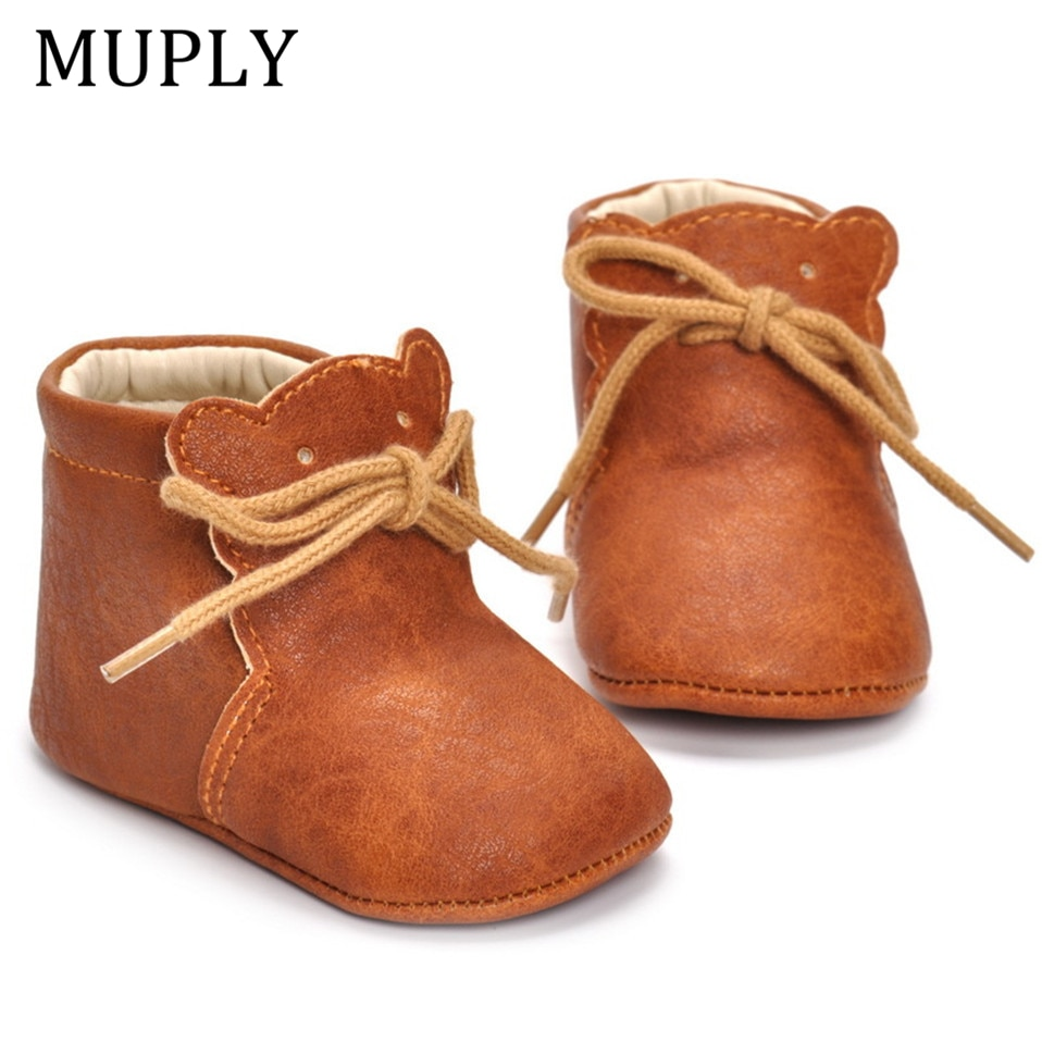 Leather New Classic Sports Sneakers Newborn Baby Boys Girls First Walkers Shoes Infant Toddler Soft