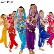 Enfants danse du ventre Costume Carnaval egypte Costume ceinture enfants inde vêtements de danse filles Bollywood Performance Bellydance ensemble de tissu