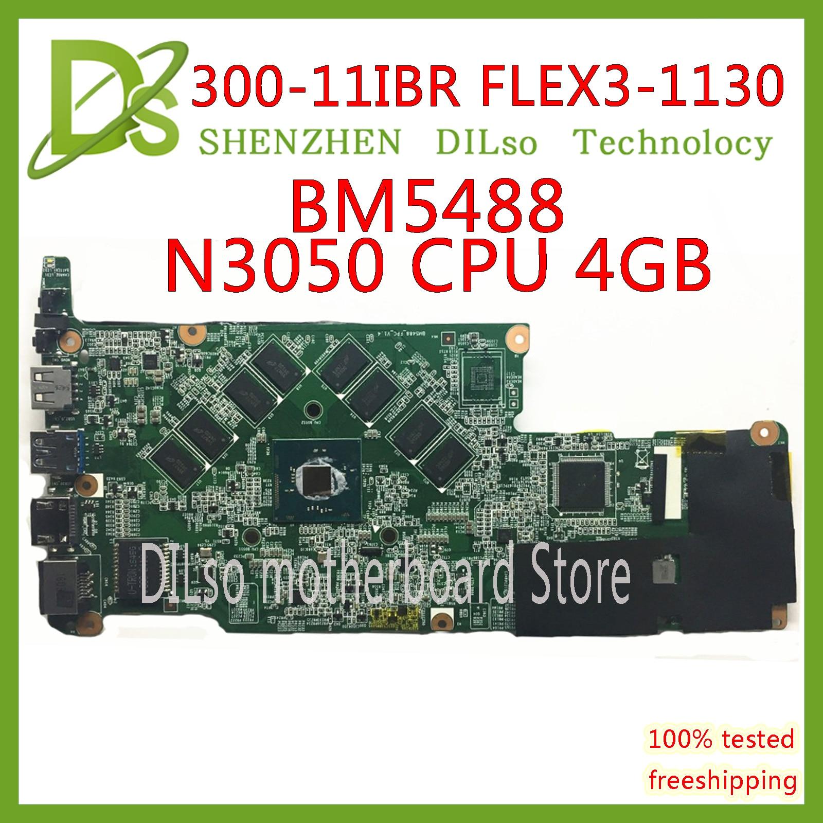 KEFU 300-11IBR اللوحة الرئيسية لينوفو اليوغا 300-11IBR FLEX3-1130 اللوحة الأم وحدة المعالجة المركزية N3050 4GB RAM اختبار العمل 100% الأصلي