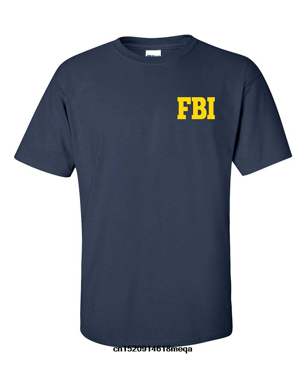 T camisa del FBI de la Oficina Federal de Investigación frente a los hombres camiseta de