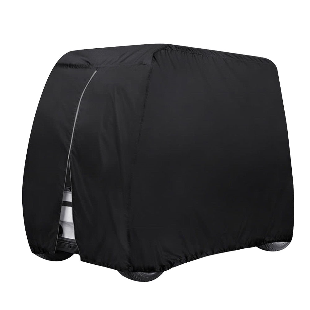 Holvwow 210D Oxford Cloth Protect Practical 4 Passenger Body Waterproof Buckle Outdoor Sports Golf Cart Cover Accessories