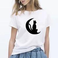 naughty black cat street matching short sleeves popular new t shirt men and women