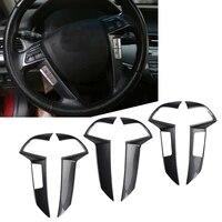 car steering wheel cover sticker decorative trim for honda accord 2008 2009 2010 2011 2012 carbon fiber abs plastic