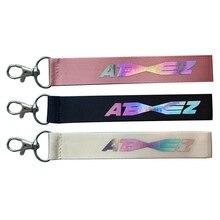 ATEEZ Laser lanière porte-clés téléphone portable accrocher corde porte-clés porte-clés Kpop ATEEZ pendentif accessoires suspendus