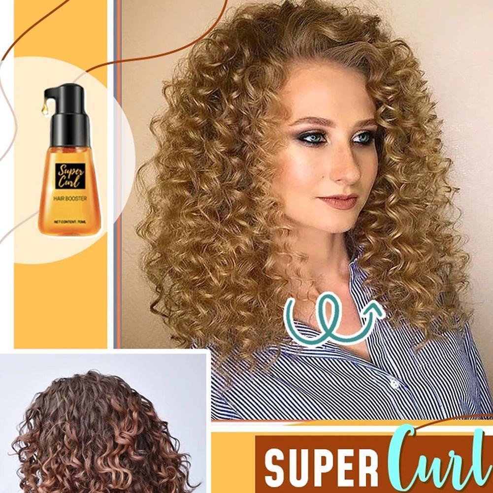 70 мл Супер Завиток определяющий бустер для домашнего салона кондиционер бустер портативный эссенция для волос супер укладка локоны бустер