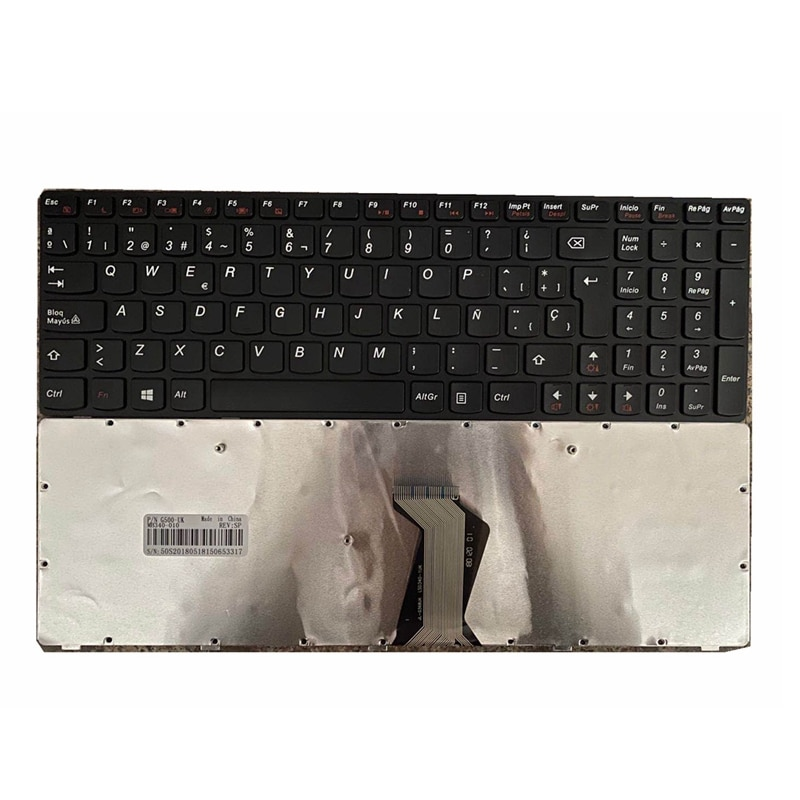 Para lenovo g500 g505 g710 portátil padrão espanhol layout teclado preto sp