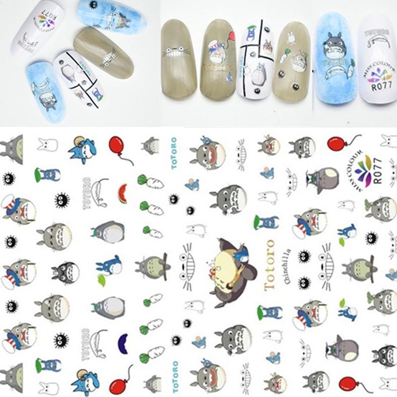 2 feuille 3D ongle autocollant chat ours animaux Sexy dame Image autocollants pour Nail Art décorations curseur pour ongles manucure ensemble 2020 nouveau