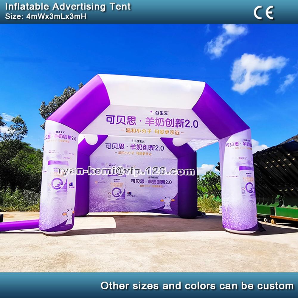 4x3m logotipo feito sob encomenda barraca de publicidade inflável para eventos ao ar livre portátil quiosque cabine promoção exibição exposição comercial uso