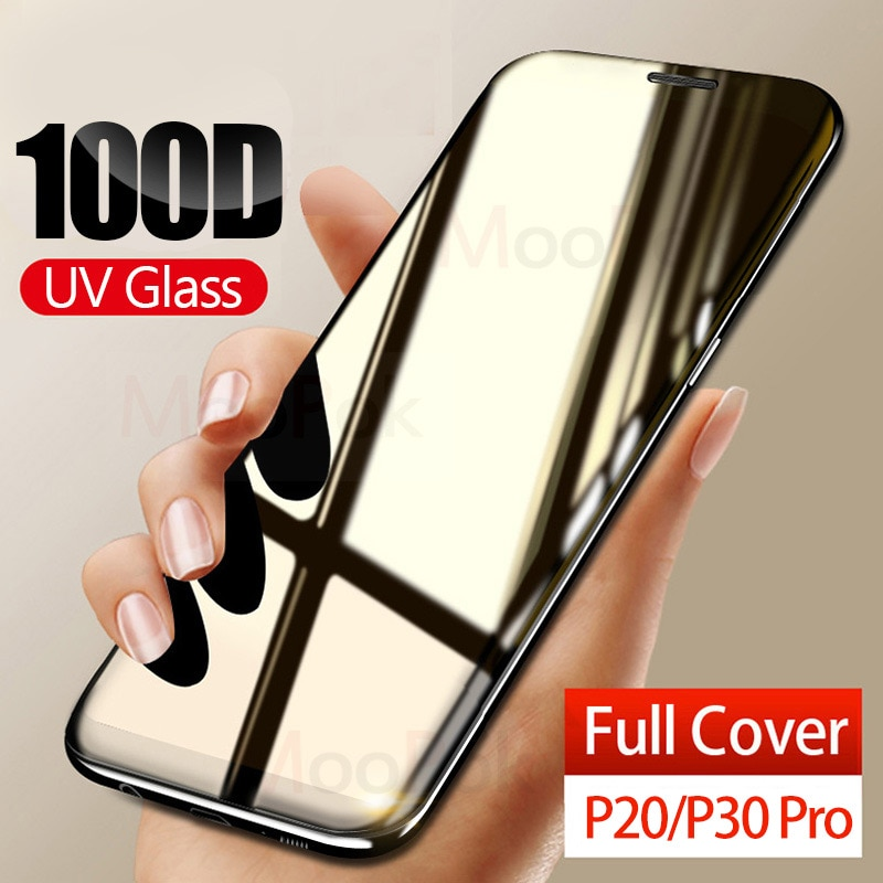 100D УФ жидкое изогнутое полное клеевое закаленное стекло для huawei P20 P30 Lite Pro mate 20 mate 30 Lite Pro защита экрана полное покрытие