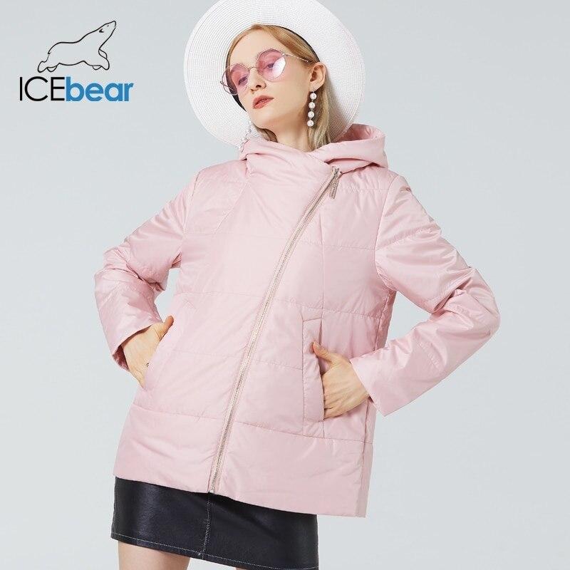 ICEbear 2021 новая осенняя женская куртка модная повседневная женская одежда высококачественная куртка с капюшоном GWC21029I