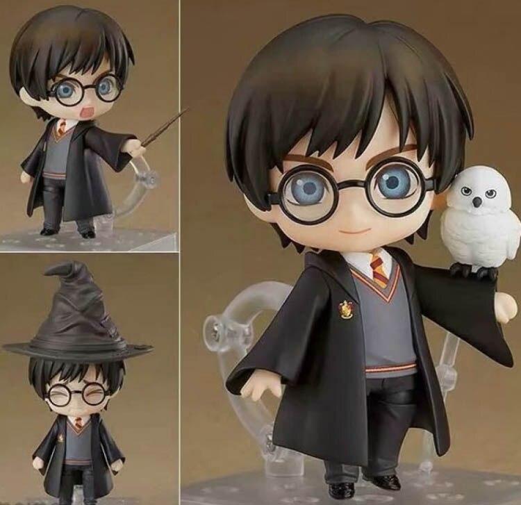QPosket lindo ojos grandes Harri Potter vinilo figuras en miniatura de juguete 10cm anime figura terminado mercancías modelo Manual Cara Cambiante