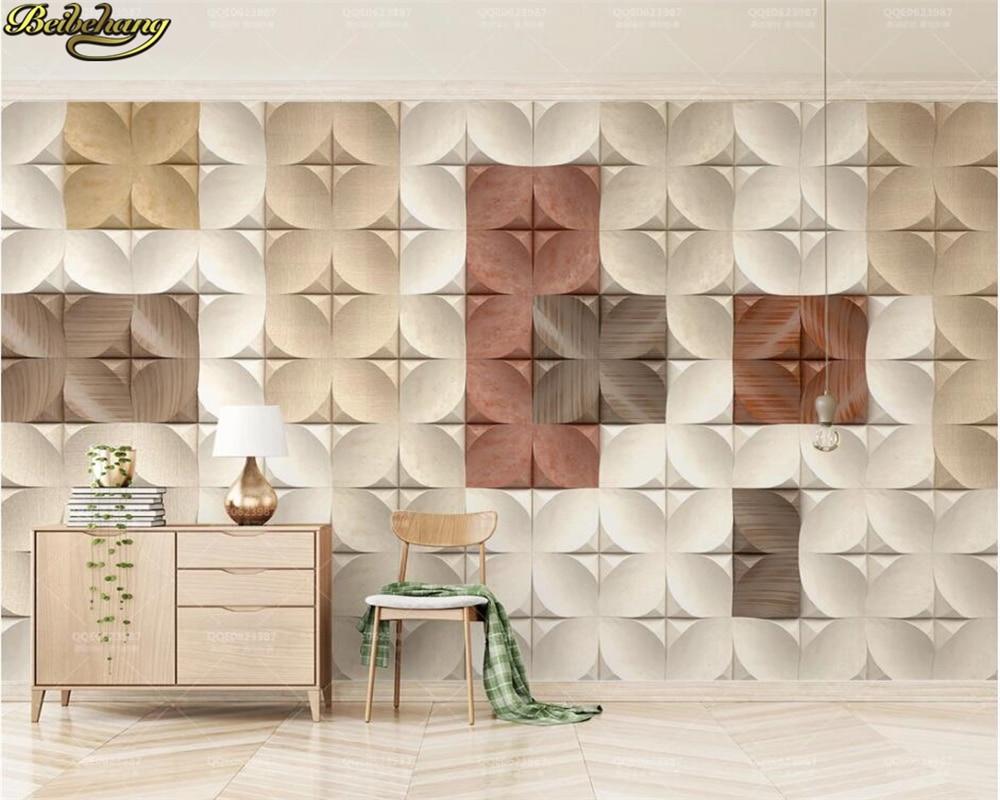 beibehang Custom wall paper mural 3d three-dimensional mosaic square nordic geometric background wallpaper