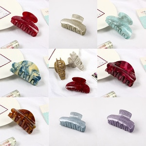 Applicable Hair Styling Tool Make Up Acrylic Crab Clamp Girl Multicolor Hair Claw Hair Clip