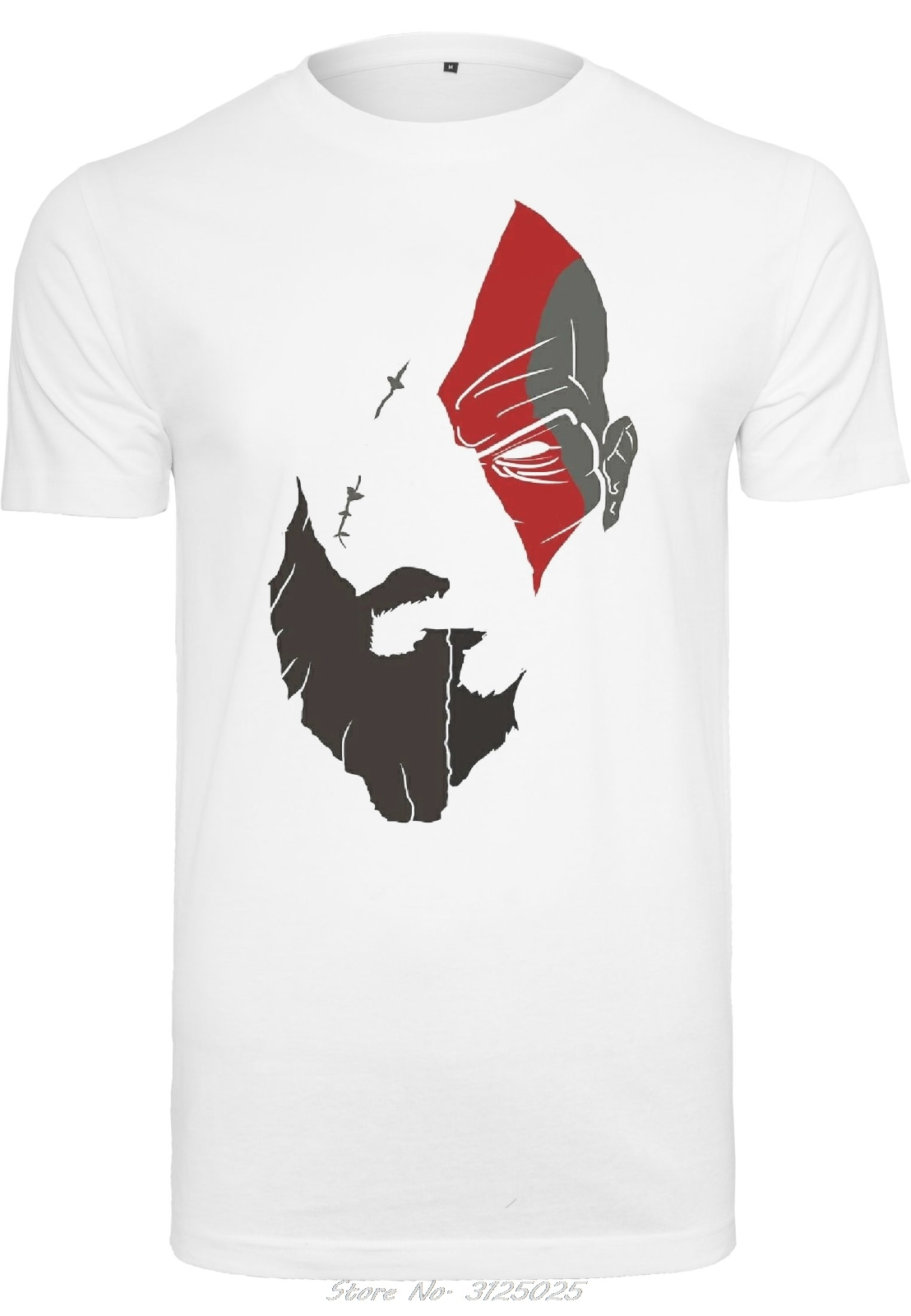 Camiseta de God Of War Kratos Herren para hombre, ropa informal de orgullo, camiseta de moda Unisex, camisetas de algodón para hombre, ropa de calle