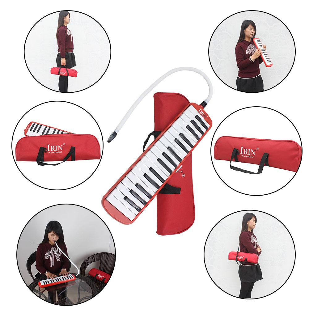 32 Key Piano Style Melodica with Deluxe Carrying Case Organ Accordion Mouth Piece Blow Key Board Instrument enlarge