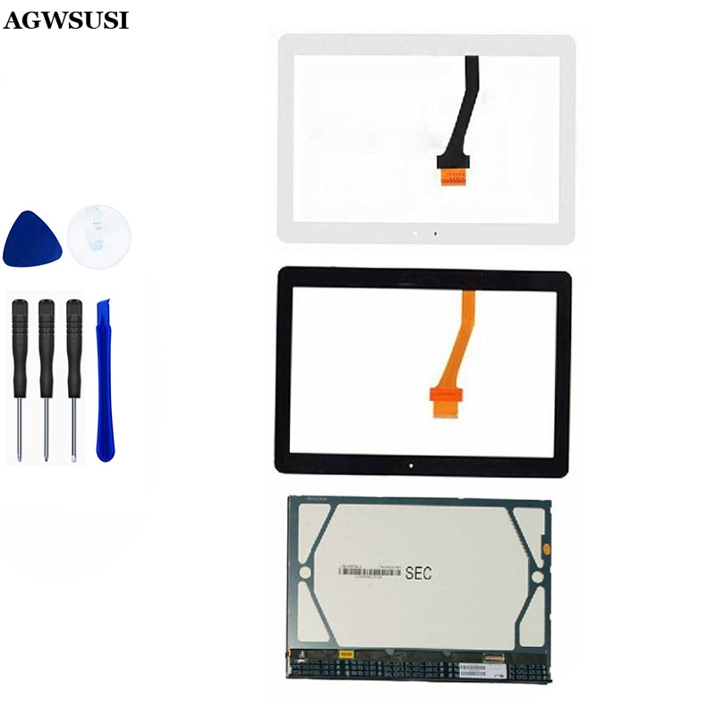 Para Samsung Galaxy Tab 2 10,1 P5100 P5110 Módulo de Monitor de pantalla LCD + Sensor de cristal digitalizador de pantalla táctil