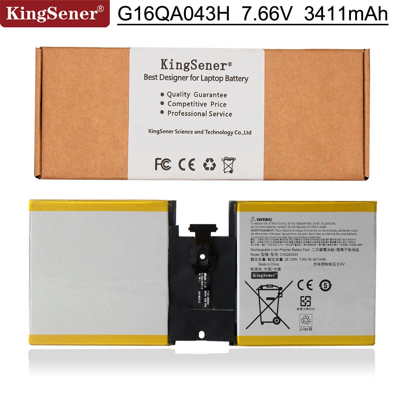 KingSener G16QA043H Laptop Battery For Microsoft Surface Go 1824 4415Y Tablet PC 2ICP4/76/76 7.66V 26.12Wh
