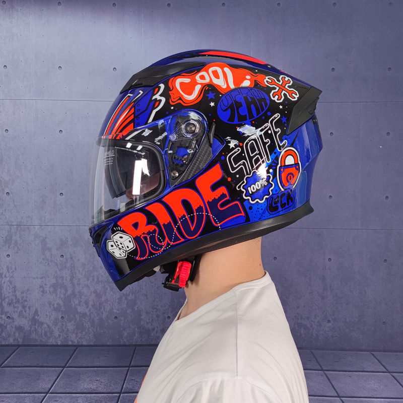 Winter Helmet Jiekai Full Face Motorcycle Accessories Capacete De Moto Sdouble Lens Knight Safety Caps Protective Gears Helmets