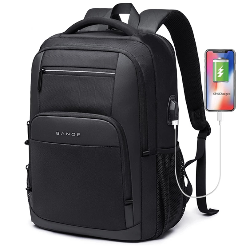 BANGE New Large Capacity 15.6 inch Daily School Backpack USB Charging Women Laptop Backpack for Teen