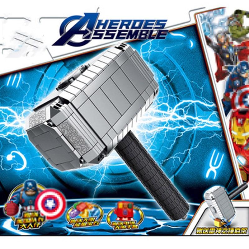 Novedad de 324 Uds. lepining Avengers Endgame, Guantelete del Infinito Thor Hammer, bloques de construcción, juguetes para niños, regalos