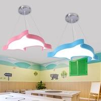 LED נברשת אינטליגנטי שלט רחוק ילדים חדר שינה אור מנורת 22W 48W אדום כתום כחול ירוק ורוד 110v 220v